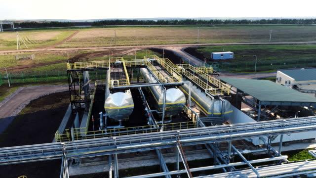 Petroleum Filled Tanks under Sunshine at Plant