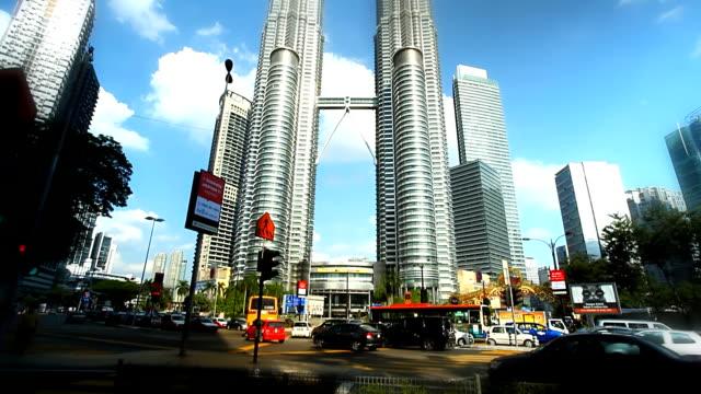 petronas towers - petronas twin towers bildbanksvideor och videomaterial från bakom kulisserna