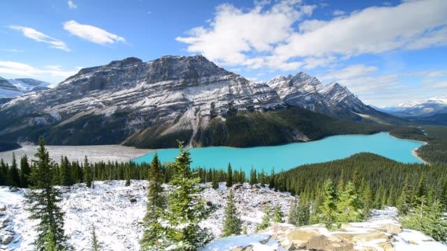 Peyto lake in Banff National Park video