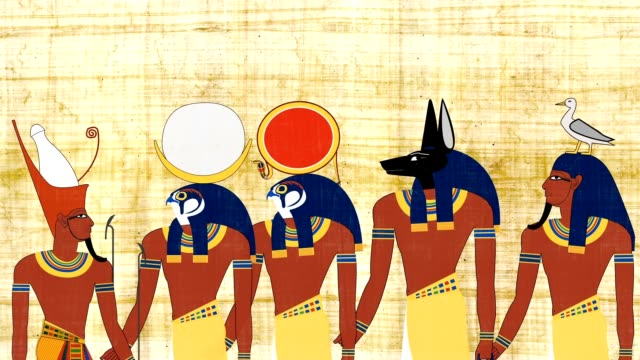 Pharaoh Consulting With Egyptian Gods video
