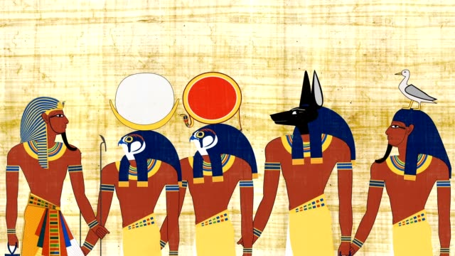 Pharaoh Consulting With The Egyptian Gods video