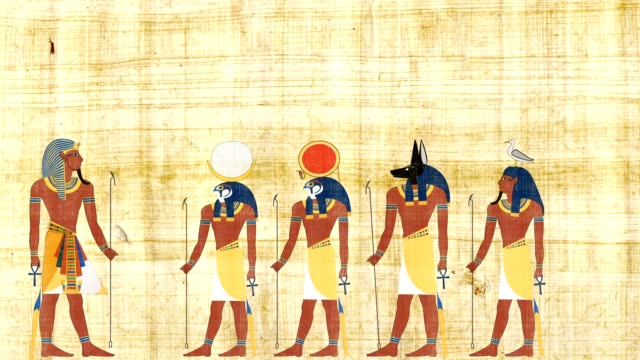 Pharaoh Consulting With The Gods Of Egypt video