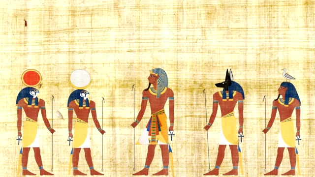 Pharaoh Surrounded By The Gods Of Egypt video