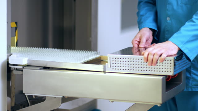 Pharmaceutical manufacturing. Pharmaceutical production line video