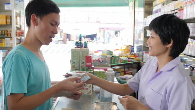 4K : Pharmacist and Customer video