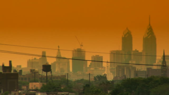 Philadelphia skyline HD video