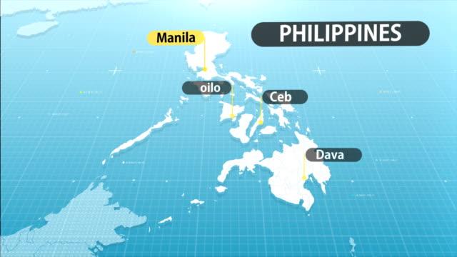 mappa filippina - filippino video stock e b–roll