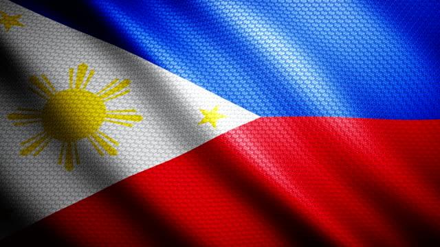 Philippines Flag 4K video