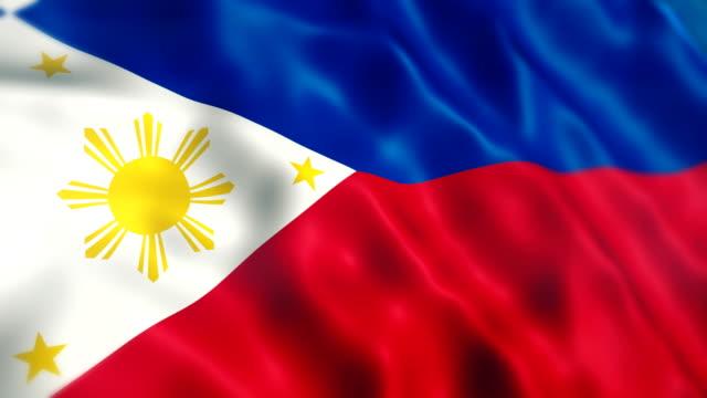 bandiera delle filippine - filippino video stock e b–roll