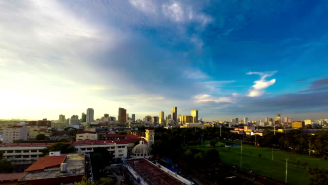 Philippines Manila skyline sunset time lapse video