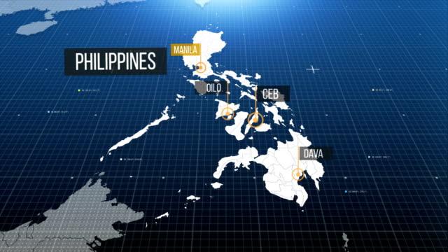 vídeos y material grabado en eventos de stock de mapa de filipinas - filipinas