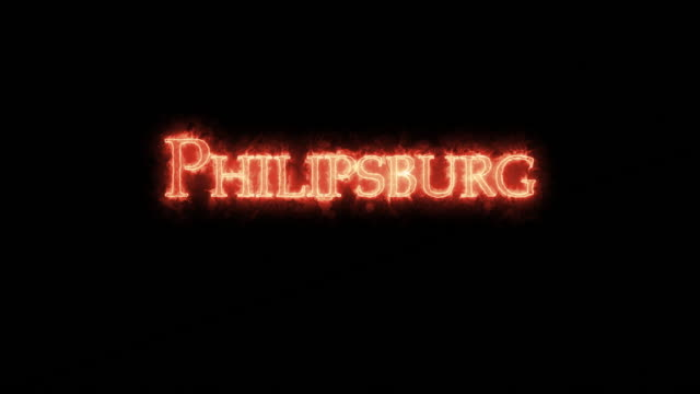philipsburg written with fire. loop - philipsburg saint martin olandese video stock e b–roll