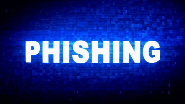 phishing text digital noise twitch glitch distortion effect error animacja. - spyware filmów i materiałów b-roll