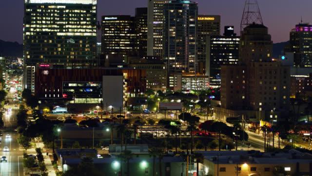Phoenix à la tombée de la nuit - Drone Shot - Vidéo