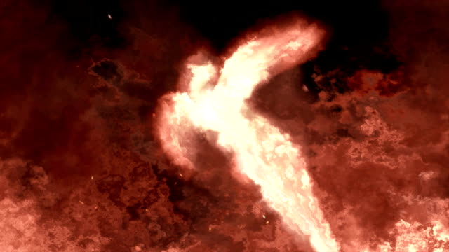 Phoenix rising from flames video