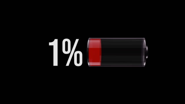 MS Phone battery on 1 percentage