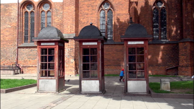 Phone booths in front of church video