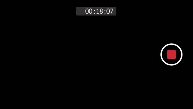 전화 카메라 rec 모드. 4k 비디오 - 영화 촬영 스톡 비디오 및 b-롤 화면