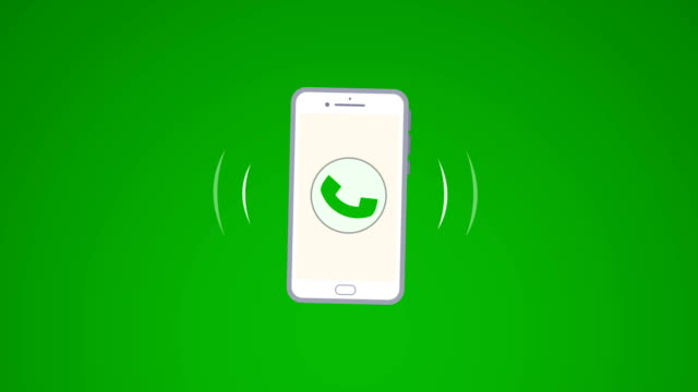4K Phone ring animation. Cellphone with moving signal bars(loopable) 4K Resolution, Animated Cartoon, Animation - Moving Image, Number, Telephone landline phone stock videos & royalty-free footage