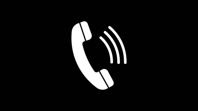 phone ring icon animation with optional luma matte. alpha luma matte included. 4k video - telefonować filmów i materiałów b-roll