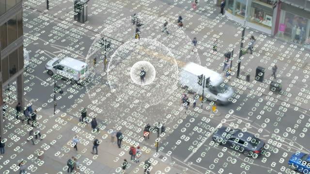 Phone signal in a data matrix city.