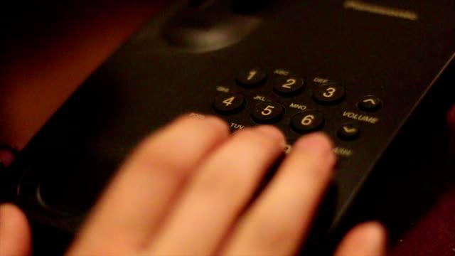 Phone Dial phone number landline phone stock videos & royalty-free footage