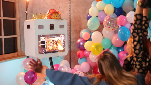 Photo booth machine on New Year's celebration
