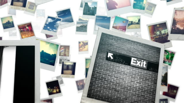 Photo Travel Bright a travel trough polaroid photo frames polaroid frame stock videos & royalty-free footage