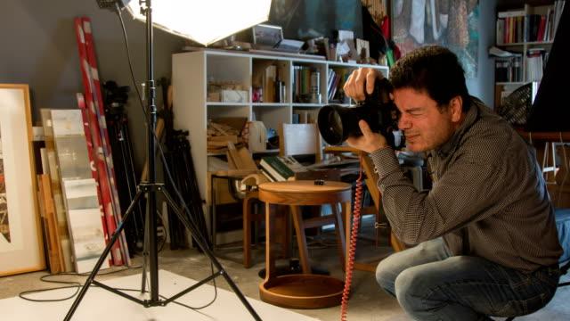 Photographer Shooting In The Studio video