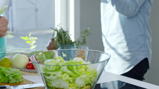 Photographing Process of Making Salad video