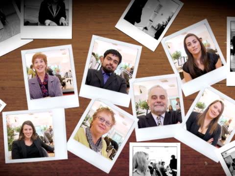 stockvideo's en b-roll-footage met photographs of people moving - polaroid