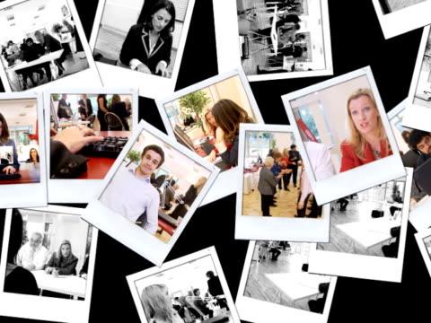 vídeos de stock, filmes e b-roll de fotos de pessoas em movimento - polaroid