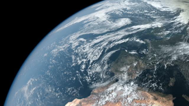 cgi -photorealistic アースカラーの 360 度の回転ループ 1080 p シーケンス - 地球のビデオ点の映像素材/bロール