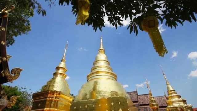 vídeos de stock e filmes b-roll de phra singh temple in chiang mai thailand - dia de reis