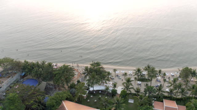Phu Quoc Island beach sunset Sea FullHD Drone shot