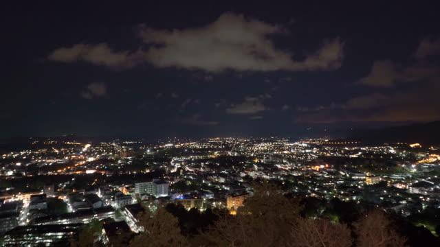 Phuket night city time lapse