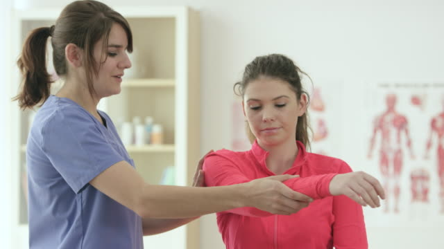 physical therapy - chiropractor stock videos & royalty-free footage