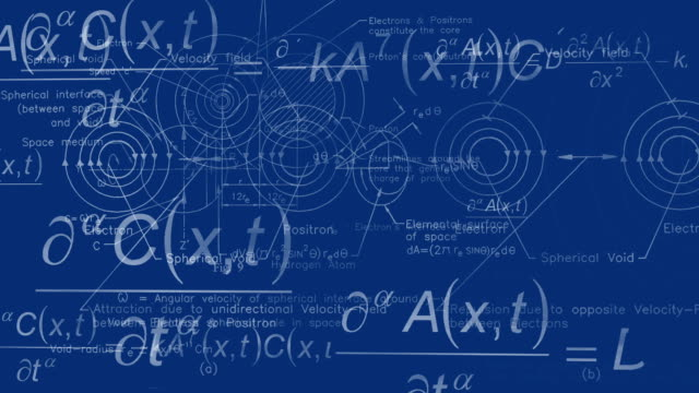 physics background blueprint - physics stock videos and b-roll footage