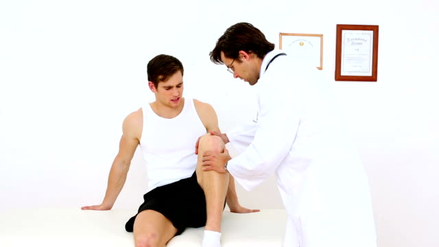 Fisioterapeuta ou doentes joelho - vídeo