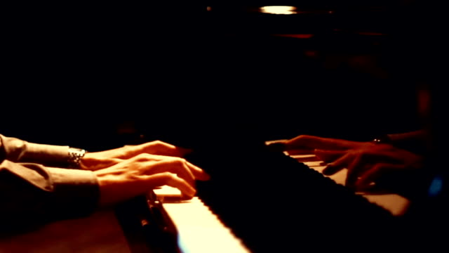 Pianist in a concert. video