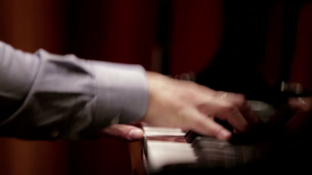 Pianist's Hands Performing Piano Concert video