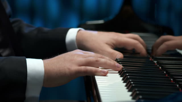 HD DOLLY: Pianist's Hands video