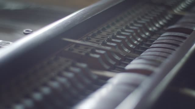 piano keyboard close up - analogico video stock e b–roll