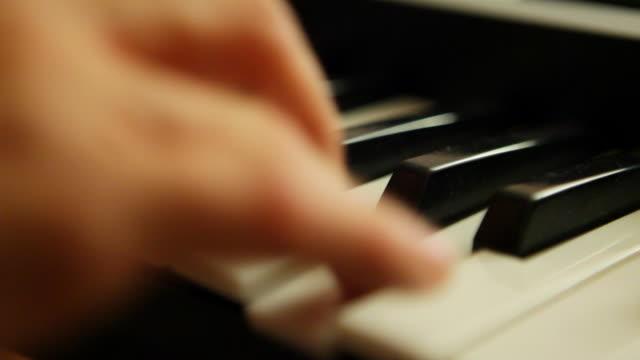 HD: Piano keyboard closeup video