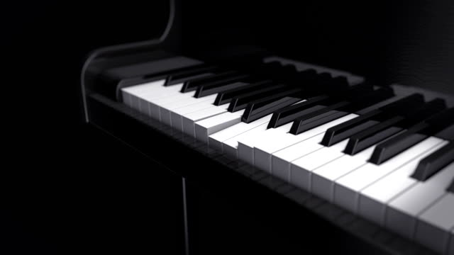 Piano play Travelling camera on a self playing piano  grace bay stock videos & royalty-free footage