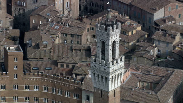 Piazza Del Campo In Morning Light  - Aerial View - Tuscany, Province of Siena, Siena, Italy video