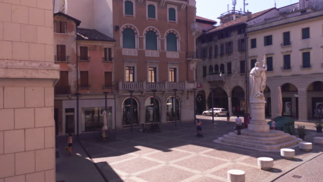 Piazza della Liberta in Treviso 2 TREVISO, ITALY 13 AUGUST 2020: Piazza della liberta or liberty sqaure in english in Treviso in Italy neoclassical architecture stock videos & royalty-free footage