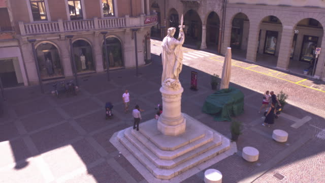 Piazza della Liberta in Treviso 3 TREVISO, ITALY 13 AUGUST 2020: Piazza della liberta or liberty sqaure in english in Treviso in Italy neoclassical architecture stock videos & royalty-free footage