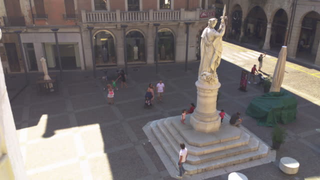 Piazza della Liberta in Treviso 5 TREVISO, ITALY 13 AUGUST 2020: Piazza della liberta or liberty sqaure in english in Treviso in Italy neoclassical architecture stock videos & royalty-free footage