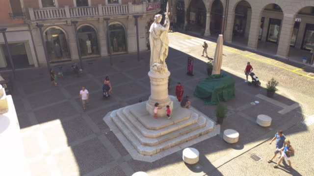 Piazza della Liberta in Treviso 6 TREVISO, ITALY 13 AUGUST 2020: Piazza della liberta or liberty sqaure in english in Treviso in Italy neoclassical architecture stock videos & royalty-free footage